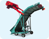 Self-propelled electro-hydraulic unloading machines for each type of product Grazioli Remac